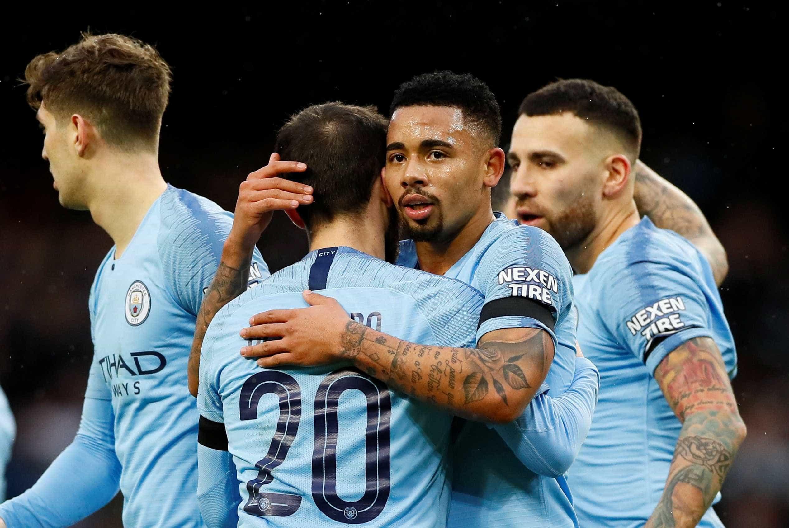 Gabriel Jesus marca, e City goleia Burnley na Copa da Inglaterra