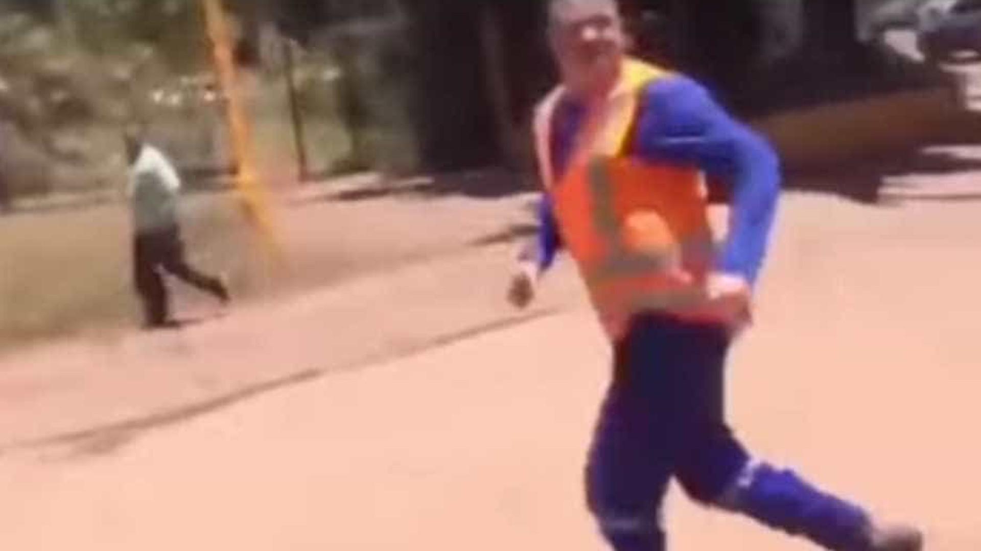 179eed1a2a696 Vídeo mostra desespero de funcionários após rompimento de barragem