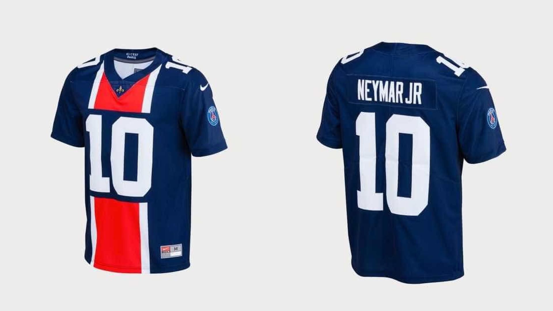 Super Bowl  PSG lança camisa de futebol americano para Neymar f6774c81d96