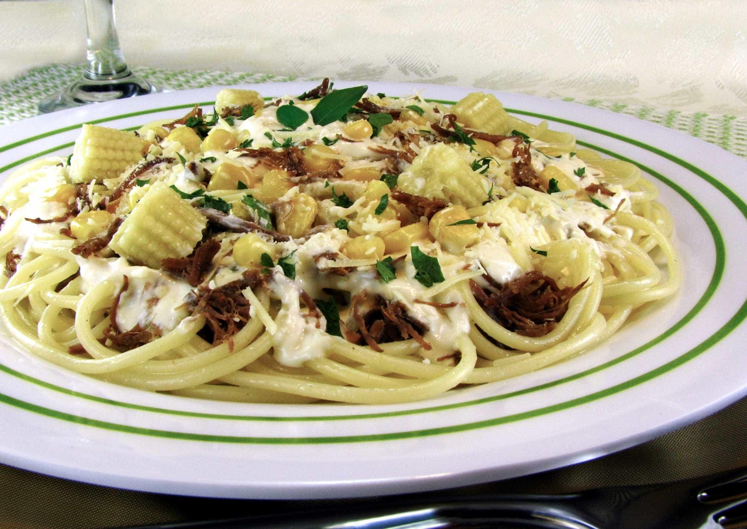 Aproveite delicioso espaguete no fim de semana
