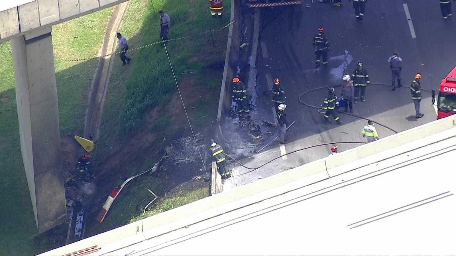 Vídeo mostra incêndio após queda de helicóptero que matou Boechat em SP