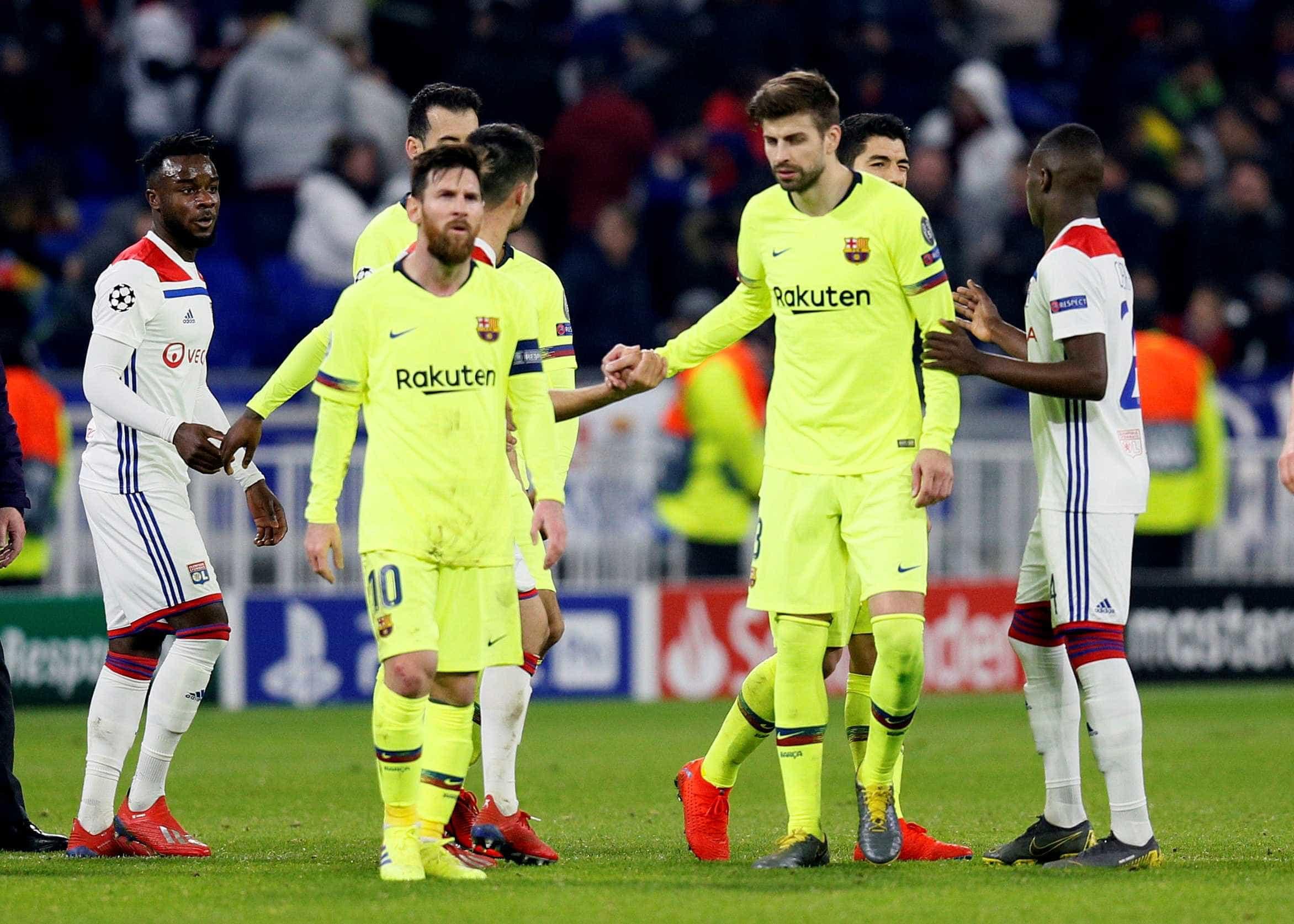 Barcelona fica no 0 a 0 com o Lyon e deixa decisão da vaga para a volta