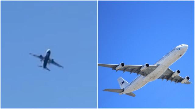 Avião balança ao enfrentar ventos fortes em Gibraltar; veja