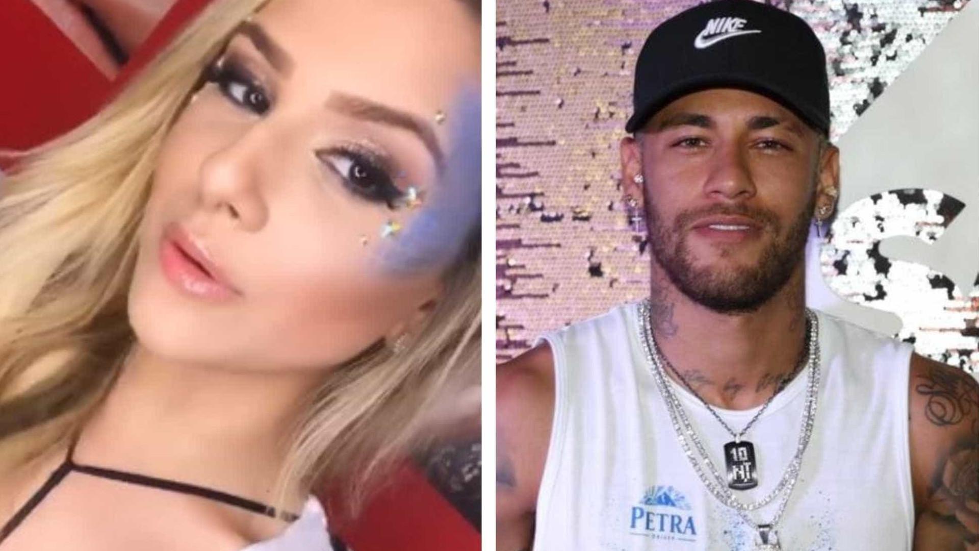 Neymar é flagrado aos beijos com loira em camarote de Salvador