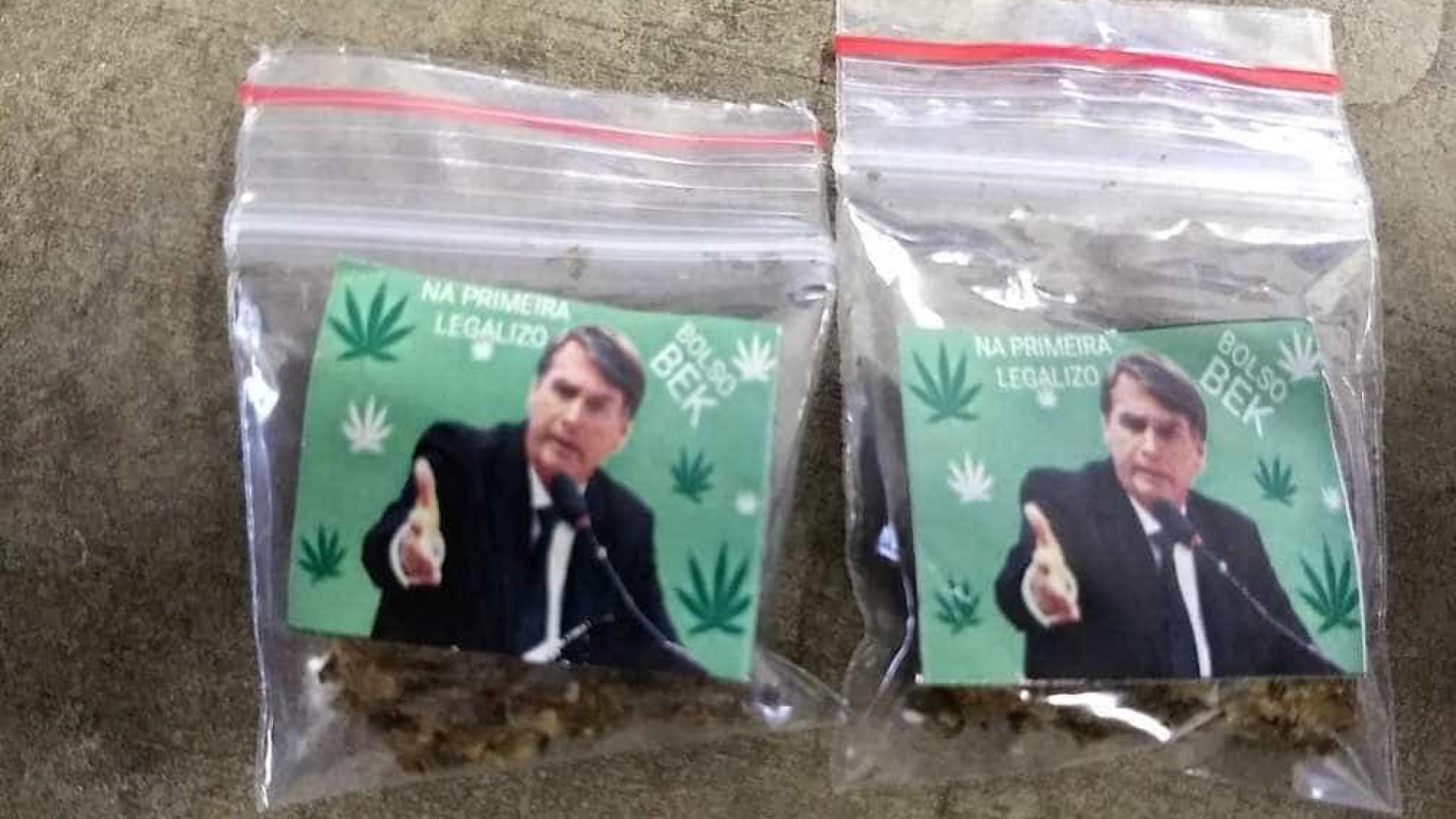 Porções de maconha com foto de Bolsonaro são apreendidas em Mogi Mirim