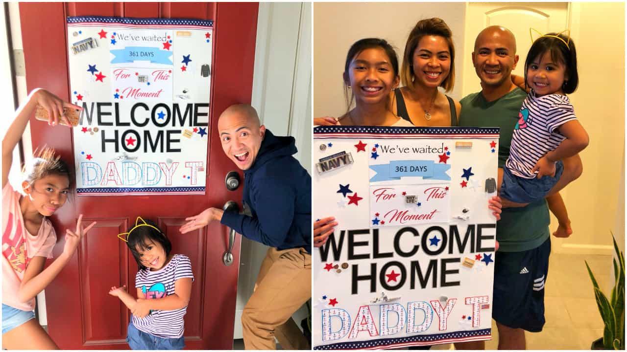 Após 361 dias em missão, militar volta para surpreender filhas