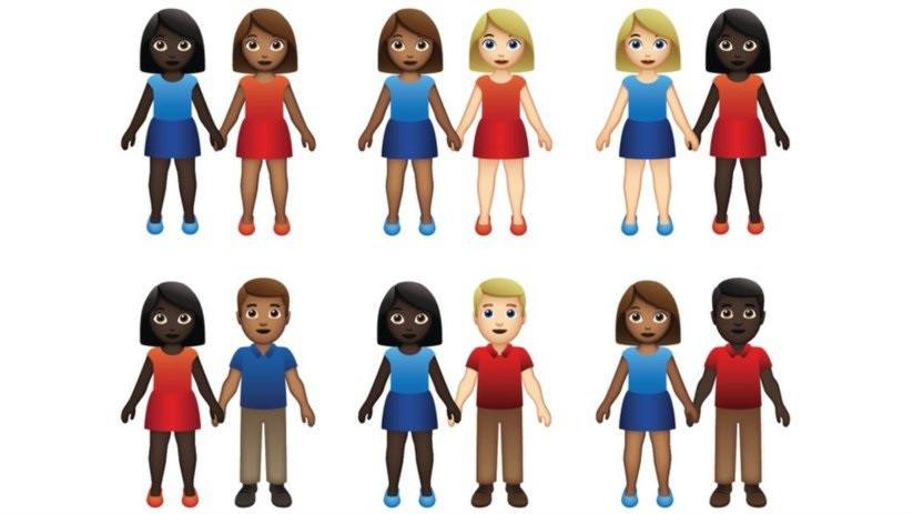 App anuncia emojis com casais inter-raciais para promover diversidade