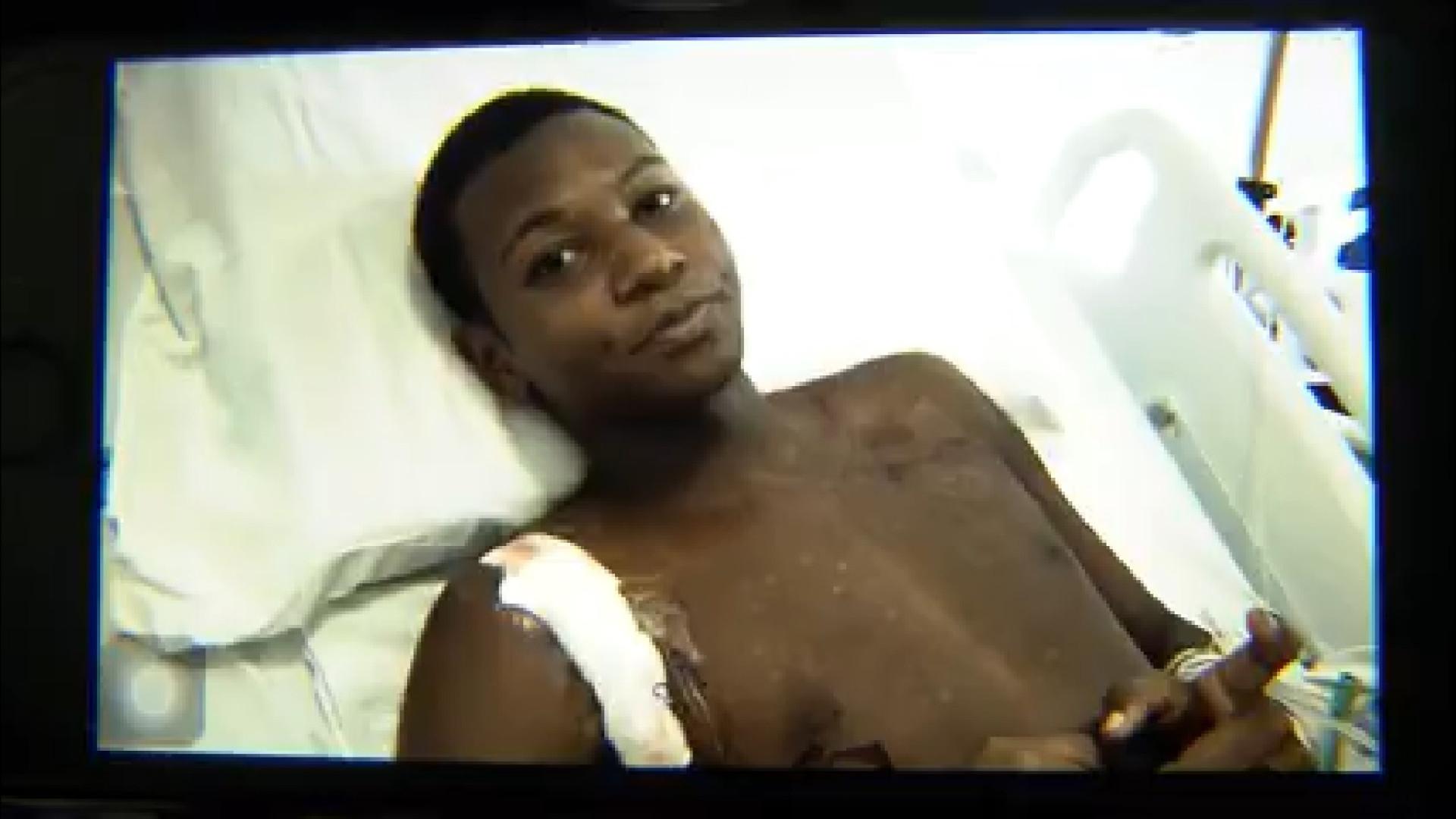 Atingido por machadinha, aluno correu até hospital próximo à escola