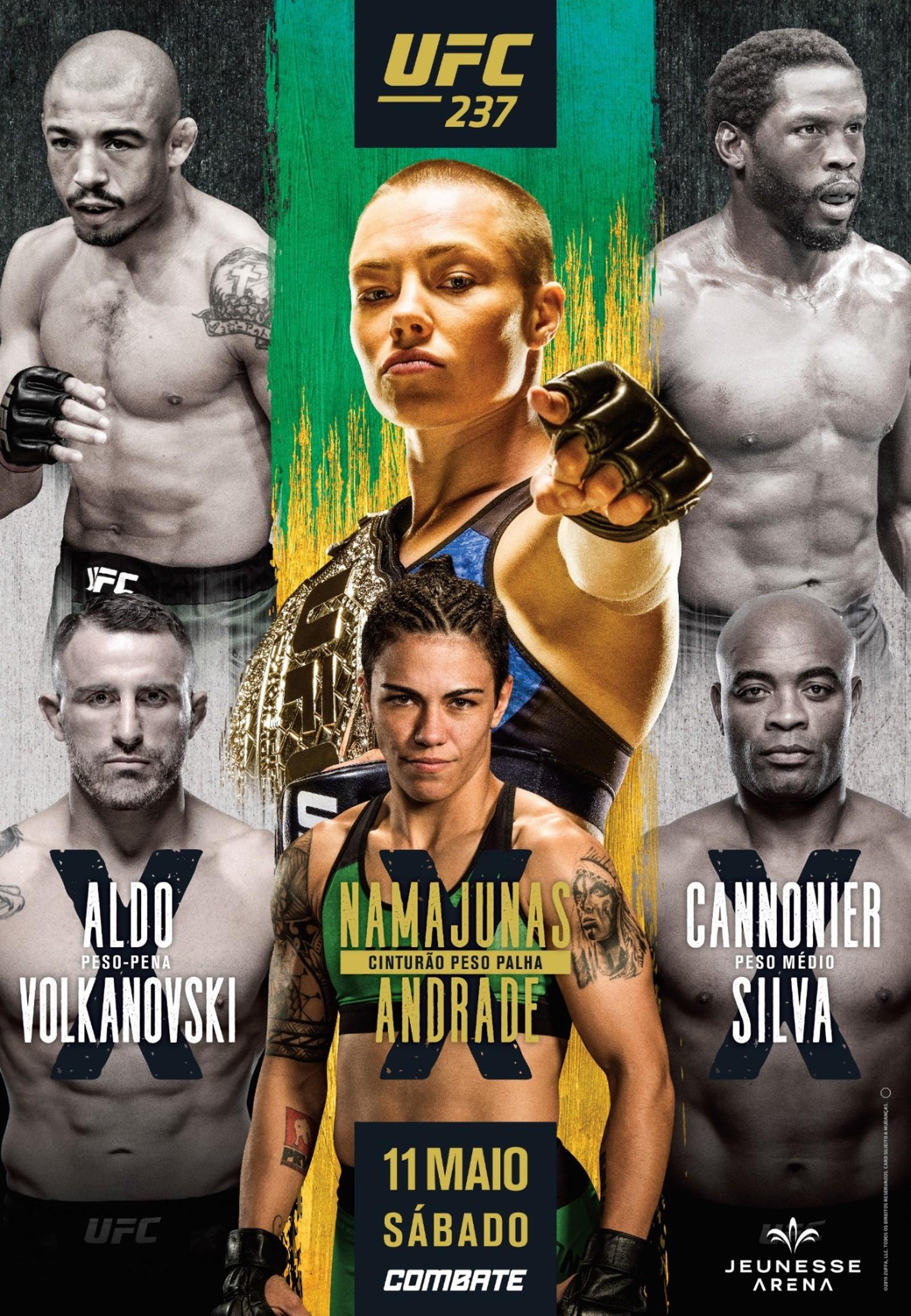 UFC divulga pôster do UFC Rio 10 com Anderson Silva e José Aldo