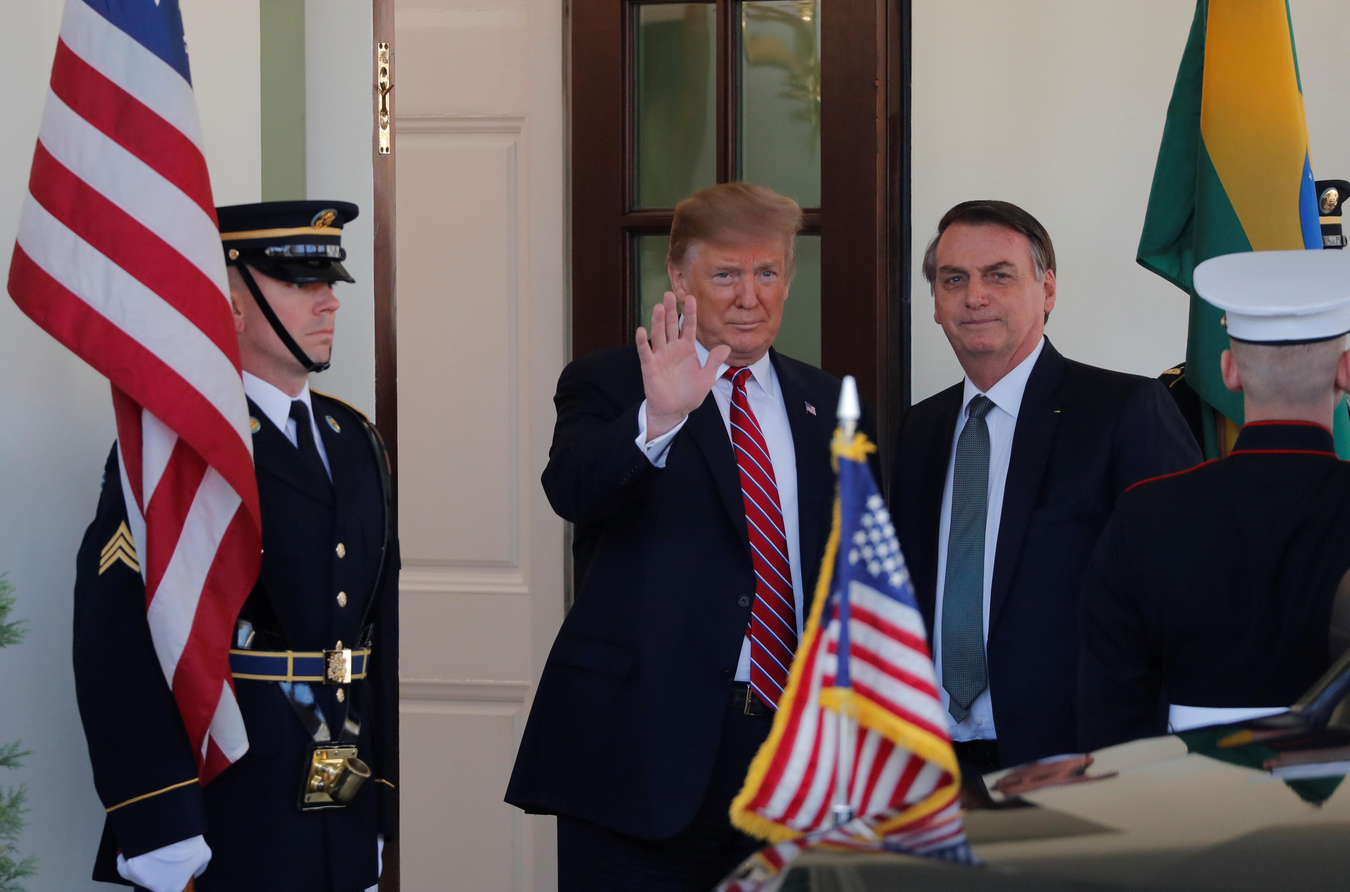 Bolsonaro e Trump já estão reunidos na Casa Branca