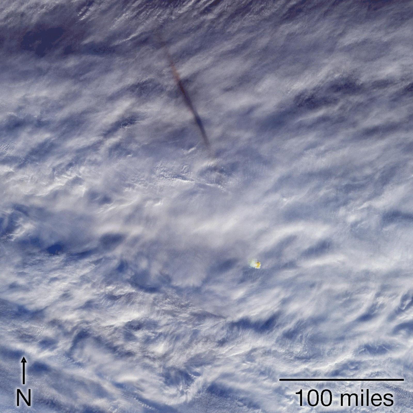Nasa divulga imagens de meteorito que explodiu na atmosfera da Terra
