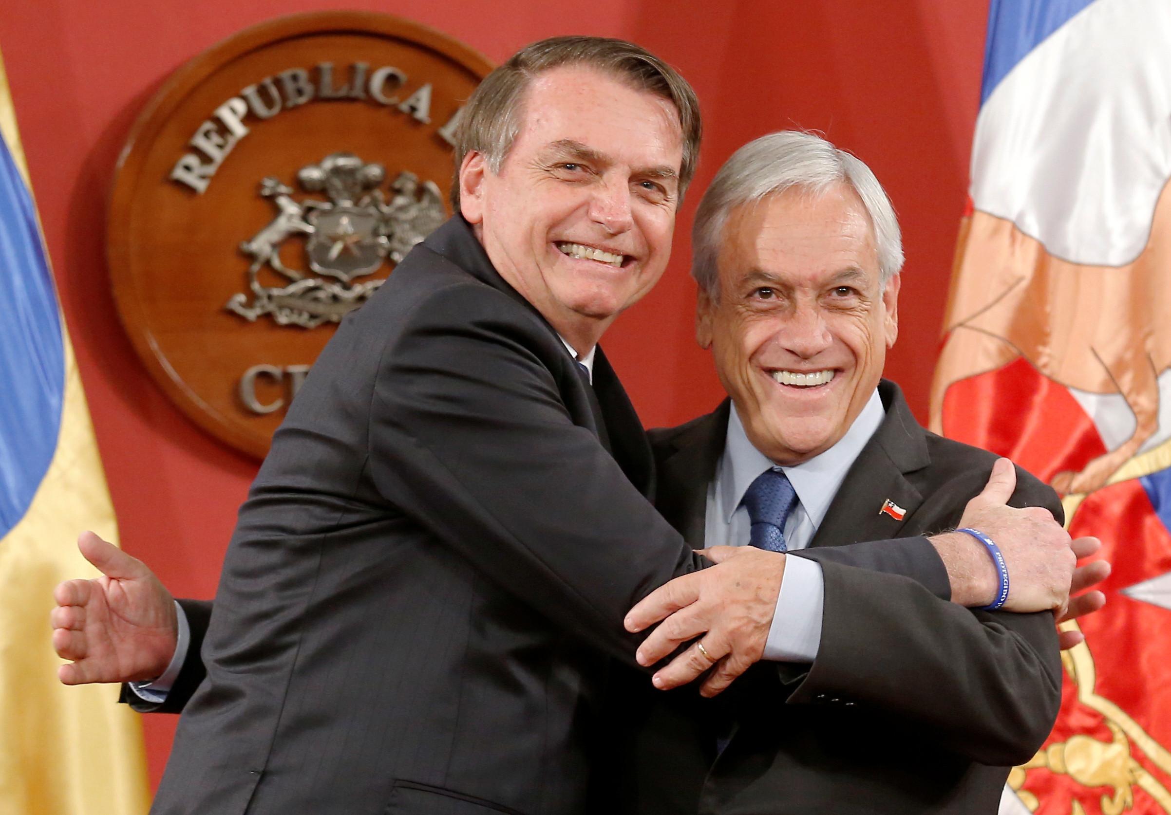 Bolsonaro e Piñera celebram novo bloco e esperam adesão da Venezuela