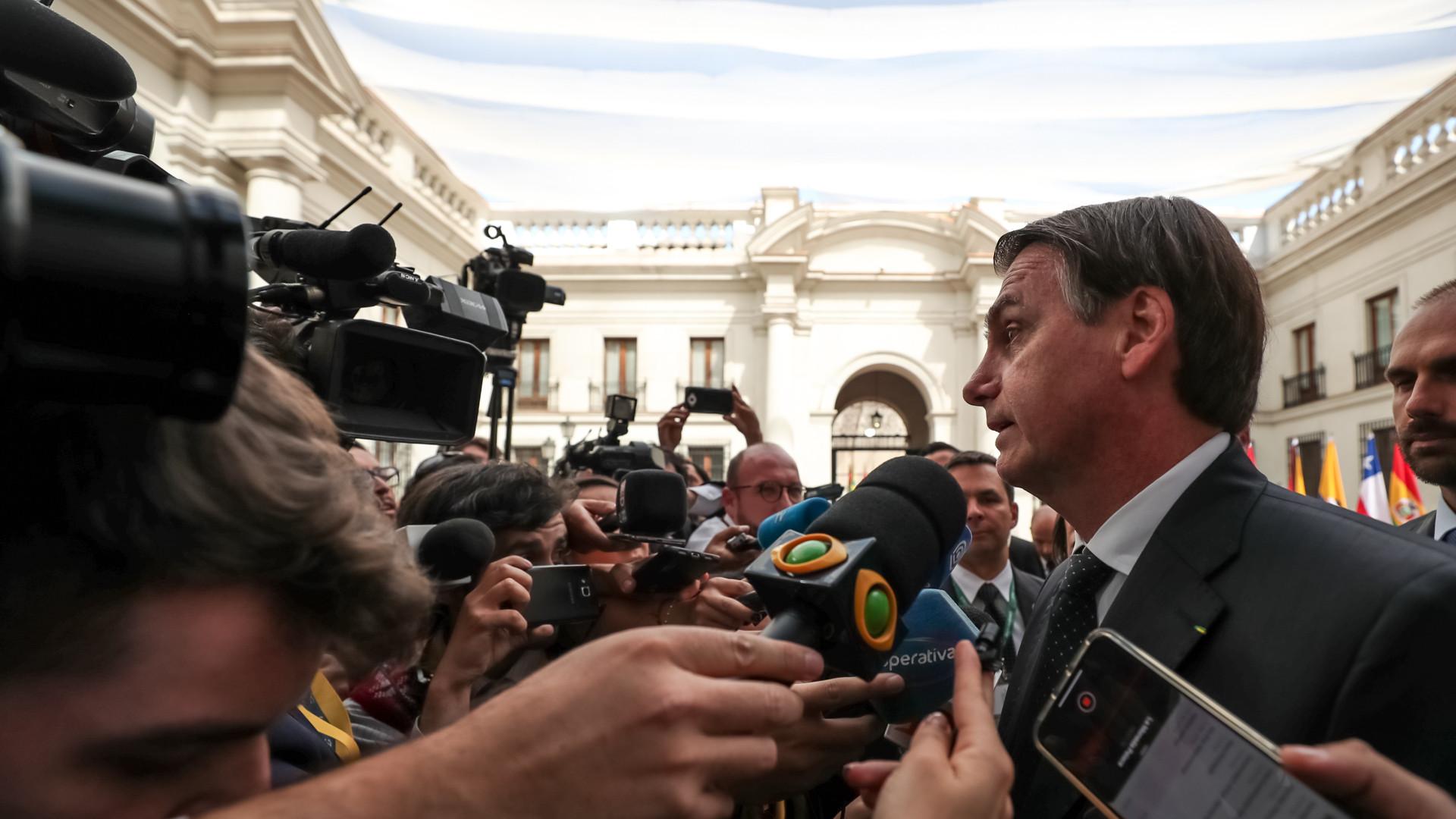 Ao comentar 100 dias de governo, Bolsonaro ataca a imprensa
