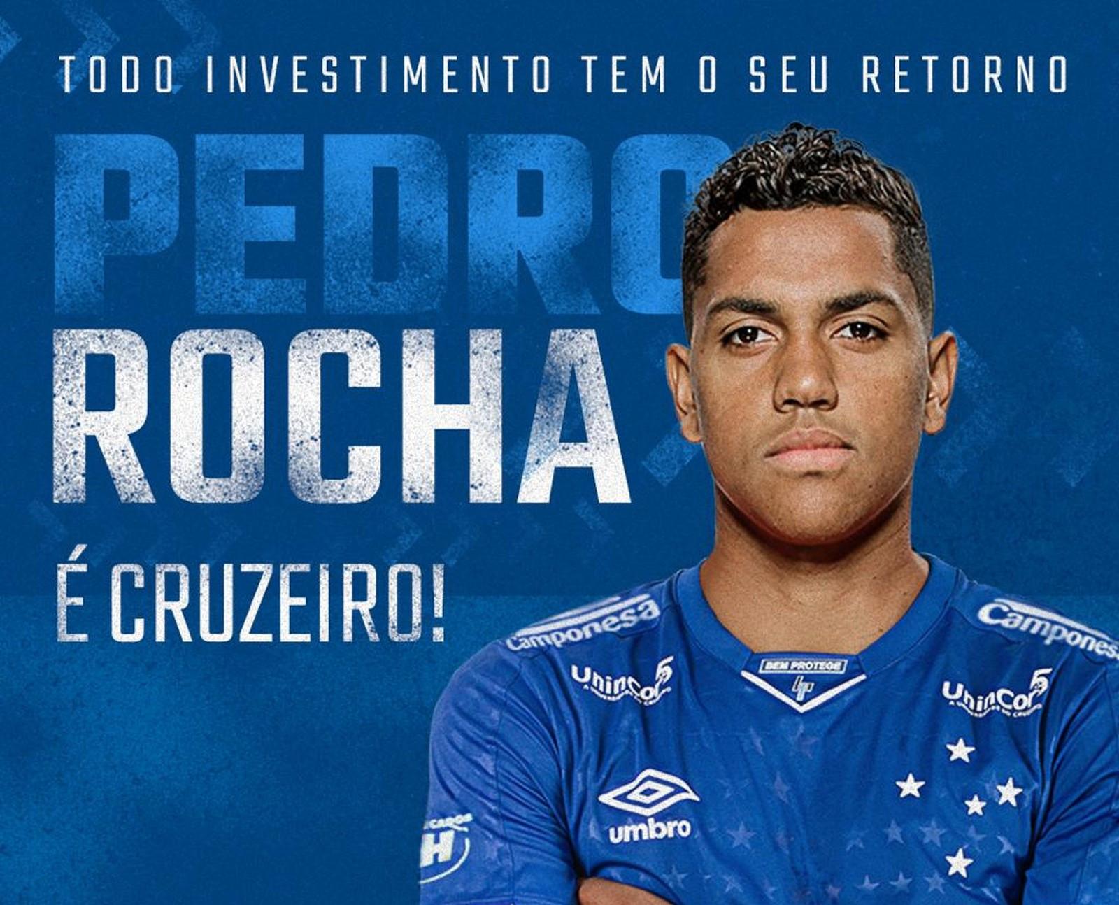 Cruzeiro contrata Pedro Rocha por empréstimo até o fim do ano