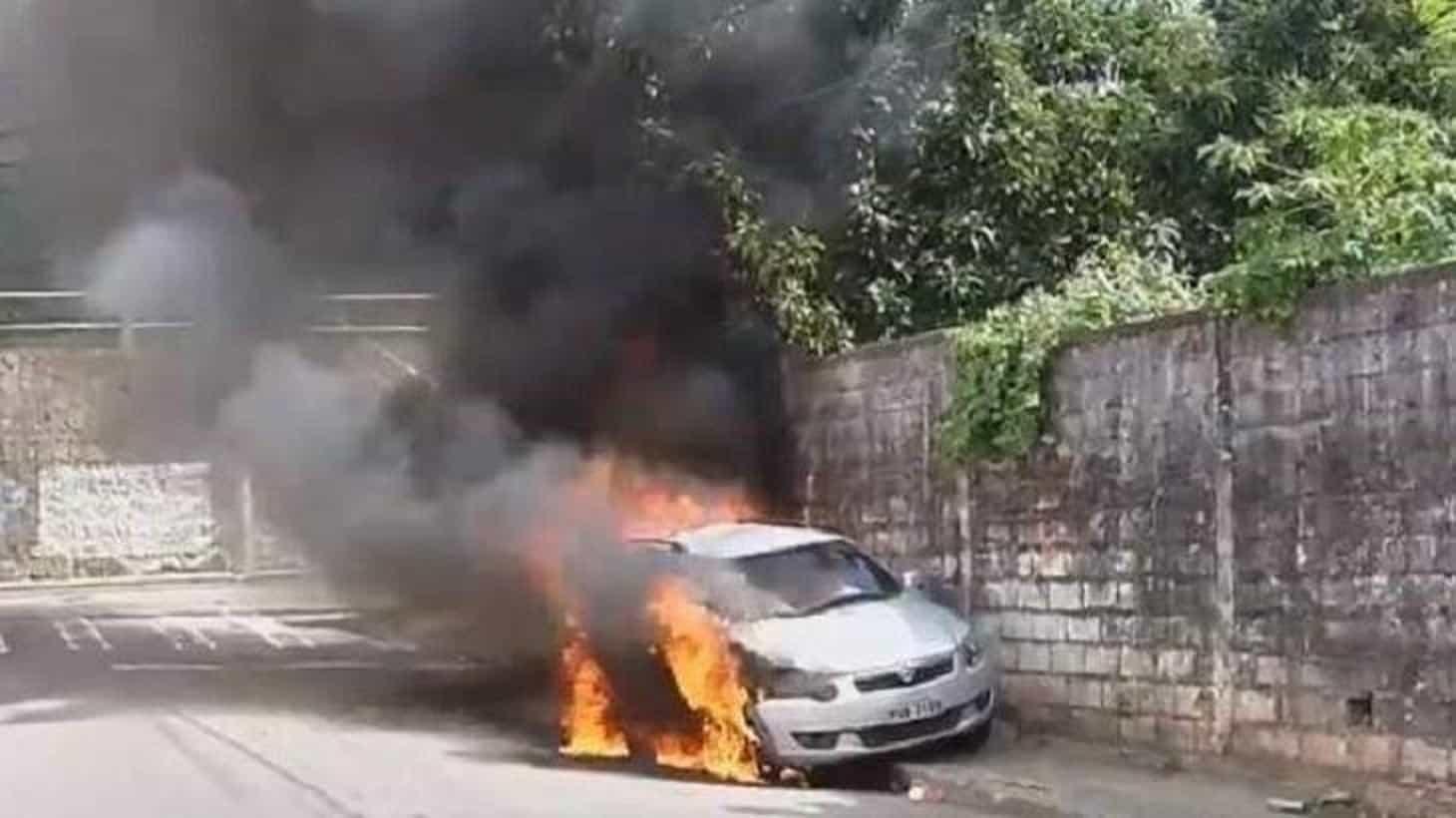 Carro da Record é incendiado por bandidos em Vitória